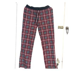 Plaid women's pajama pants